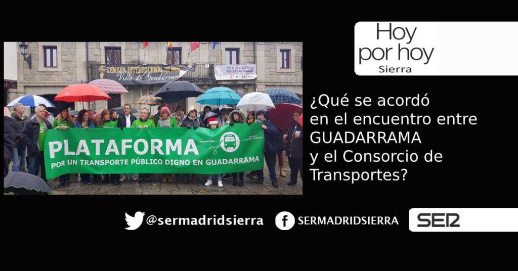 HOY POR HOY. Conclusiones tras el encuentro entre la Plataforma de Guadarrama y el Consorcio de Transportes