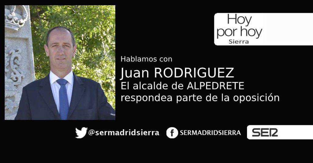 HOY POR HOY.El alcalde de Alpedrete responde a parte de la Oposición