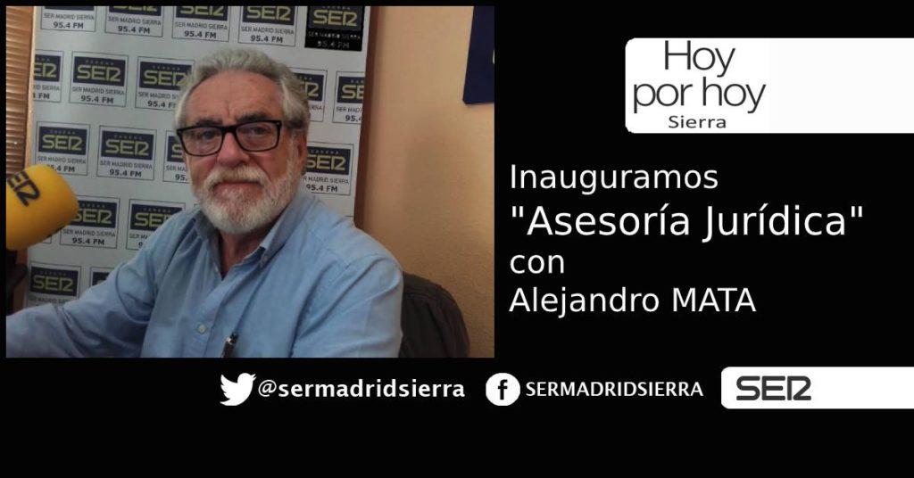 HOY POR HOY. Inauguramos «Asesoría Jurídica» con Alejandro Mata