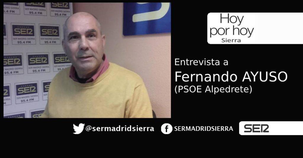 HOY POR HOY.Entrevista a Fernando Ayuso, portavoz PSOE en Alpedrete