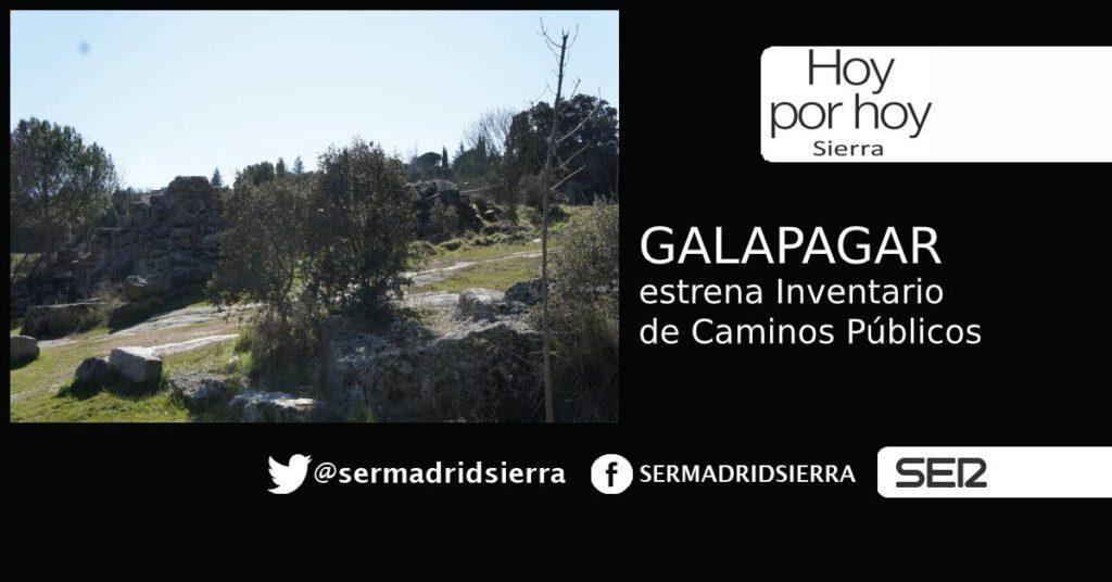 HOY POR HOY. Hablamos con J.L. Soriano, responsable del Inventario de Caminos de Galapagar