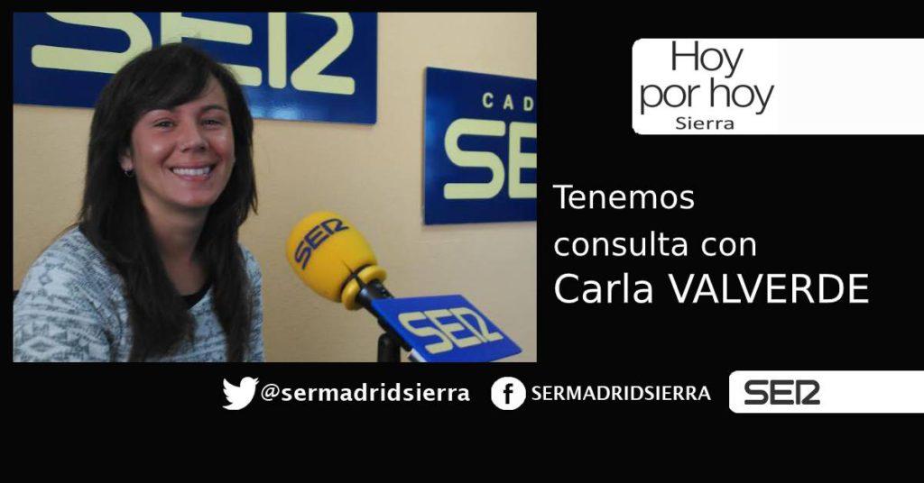 HOY POR HOY. Tenemos consulta con Carla Valverde