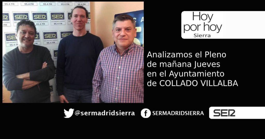 HOY POR HOY.Analizamos el pleno de mañana Jueves en el Ayuntamiento de C. Villalba
