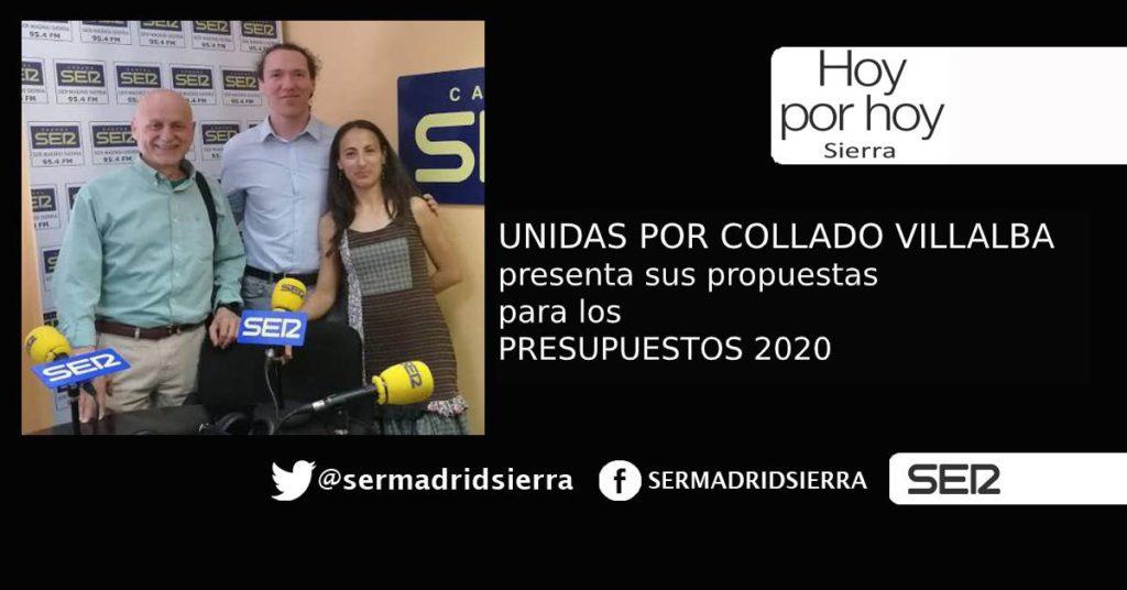 HOY POR HOY. Unidas por Collado Villalba y sus propuestas para los Presupuestos de 2020