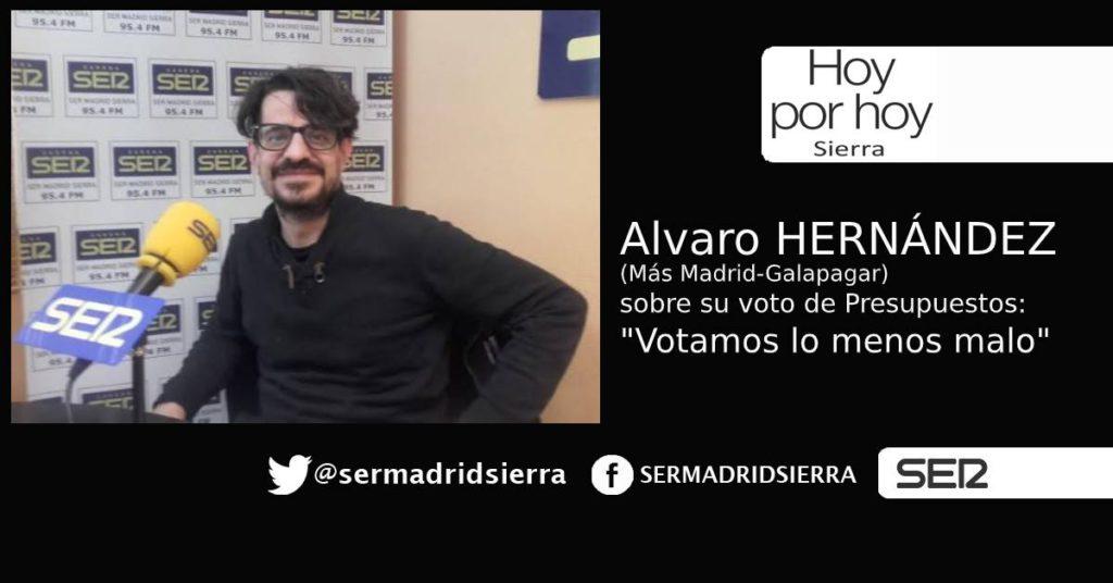HOY POR HOY. Entrevista a Álvaro Hernández (Más Madrid-Galapagar)