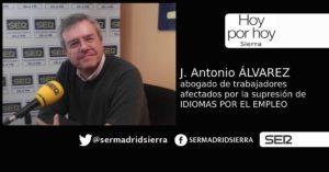 HOY POR HOY. José Antonio Alvarez es el abogado de trabajadores afectados por el cierre de Idiomas por el Empleo