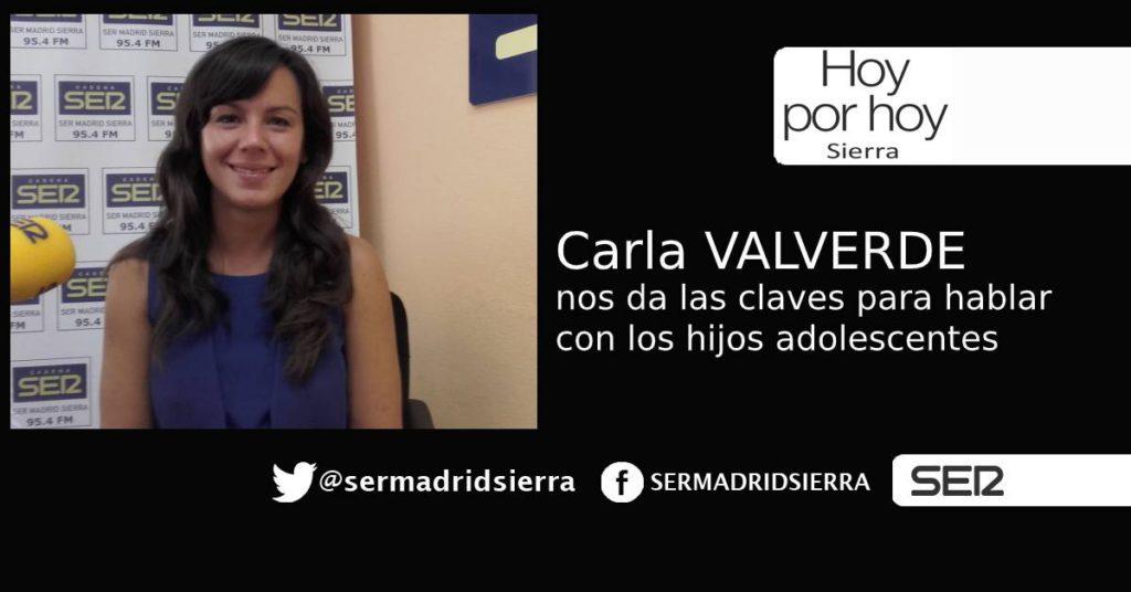 HOY POR HOY. Carla Valverde: Cómo hablar con los hijos adolescentes