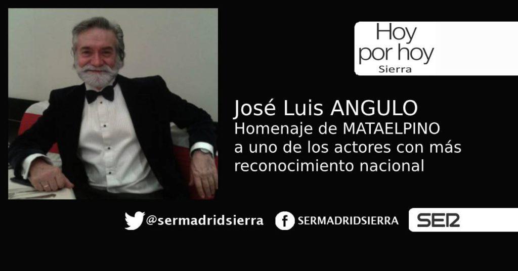 HOY POR HOY. Mataelpino rinde homenaje a José Luis Angulo, actor y director de doblaje