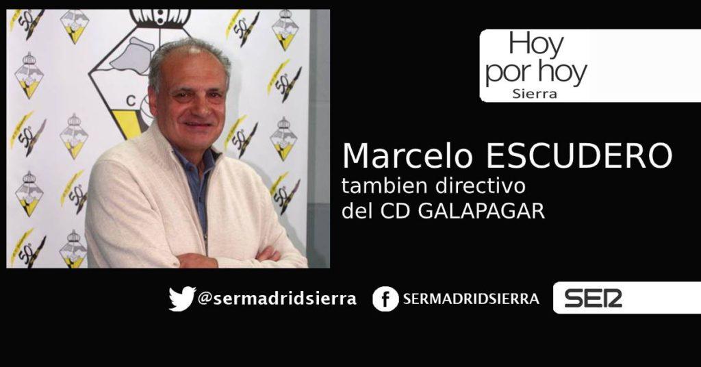 HOY POR HOY. Marcelo Escudero, tambien en la directiva del CD Galapagar