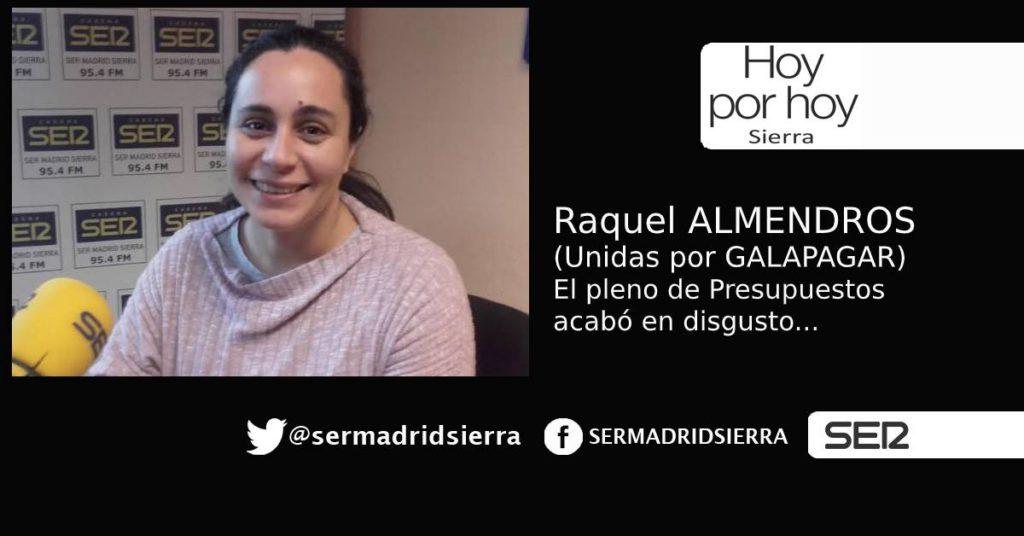 HOY POR HOY. Raquel Almendros nos habla del pleno de Presupuestos de Galapagar